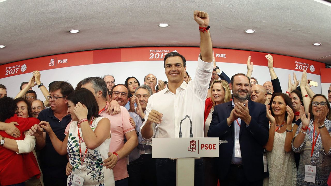 Barcelona acoge una gran marcha unionista.Pedro Sánchez