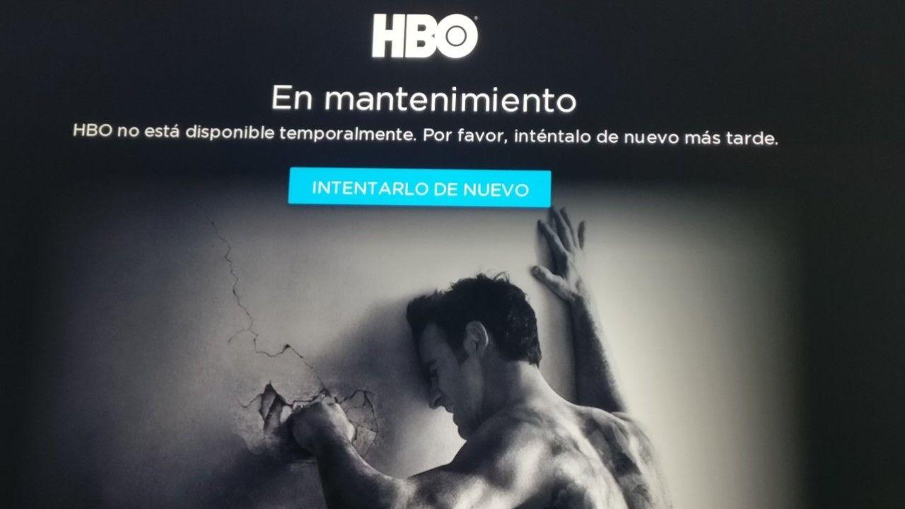 La web de HBO, caída