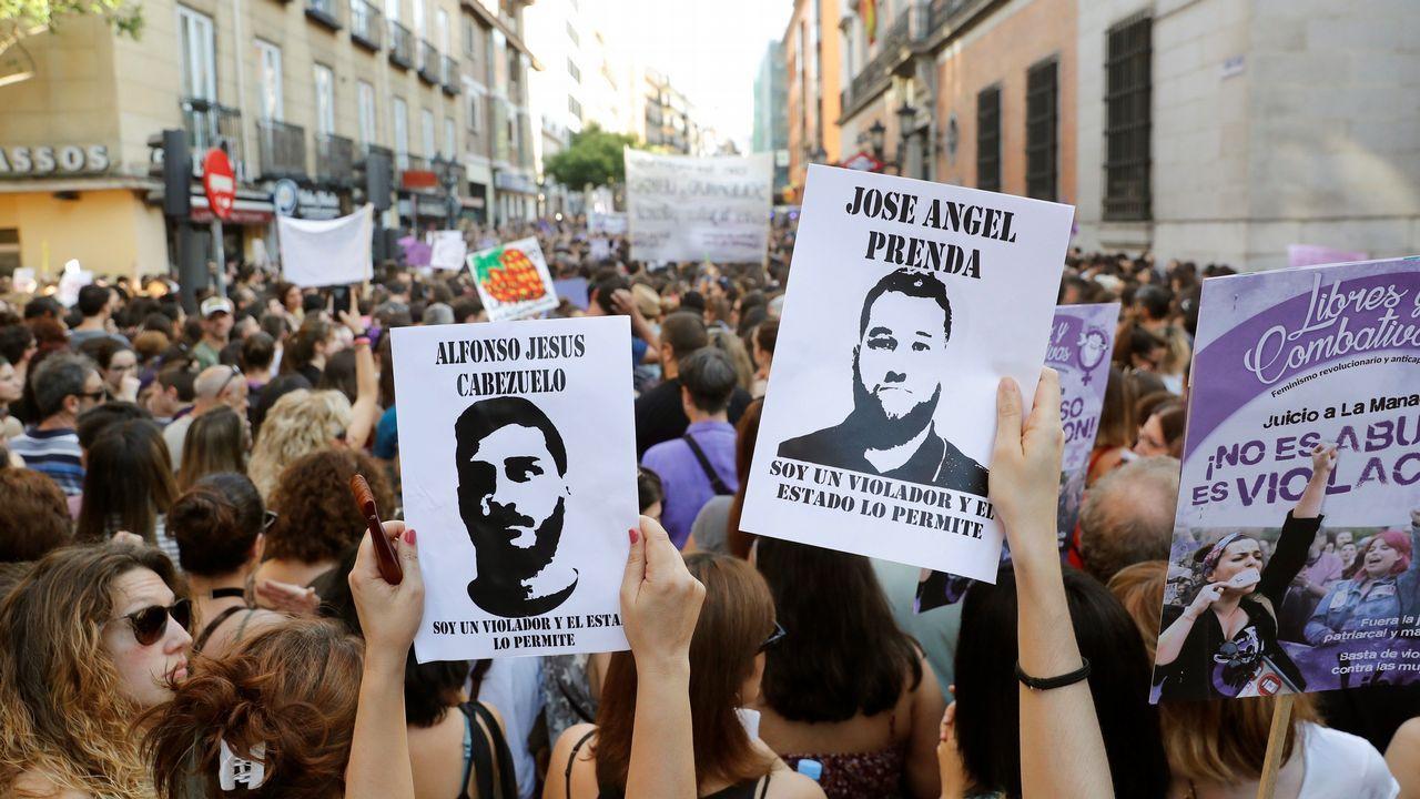 Multitudinaria respuesta en las calles a la libertad de La Manada