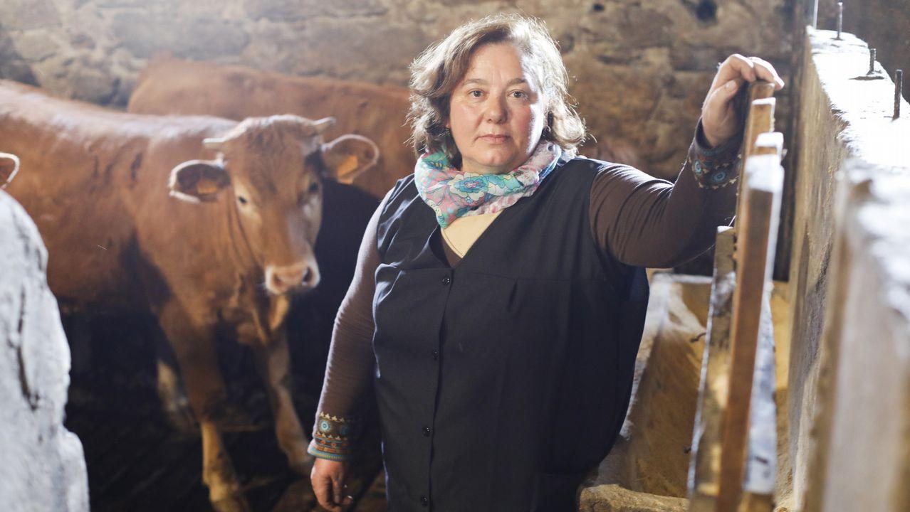 .Luisa Díaz, ganadera de O Páramo