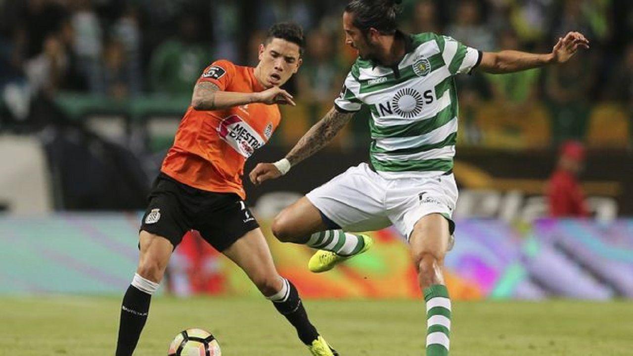.Renato Santos en un Boavista-Sporting Portugal