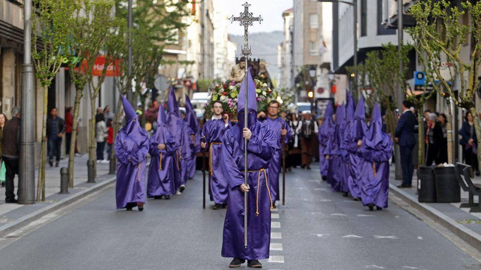Las fotos de la procesión de Viernes Santo en Monforte