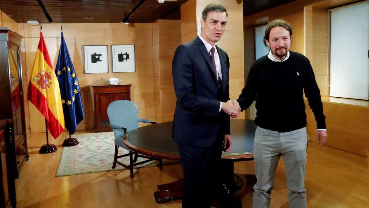 Pedro Sánchez y Pablo Iglesias se reunieron el 11 de junio en el Congreso