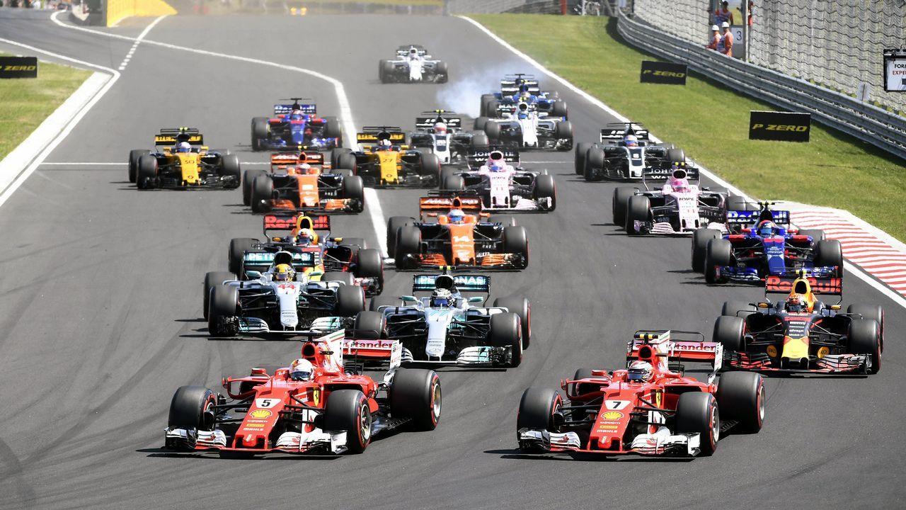 Ferrari Dino 246 GTS enterrado en Los Ángeles.Fernando Alonso tras el Gran Premio de Hungría.