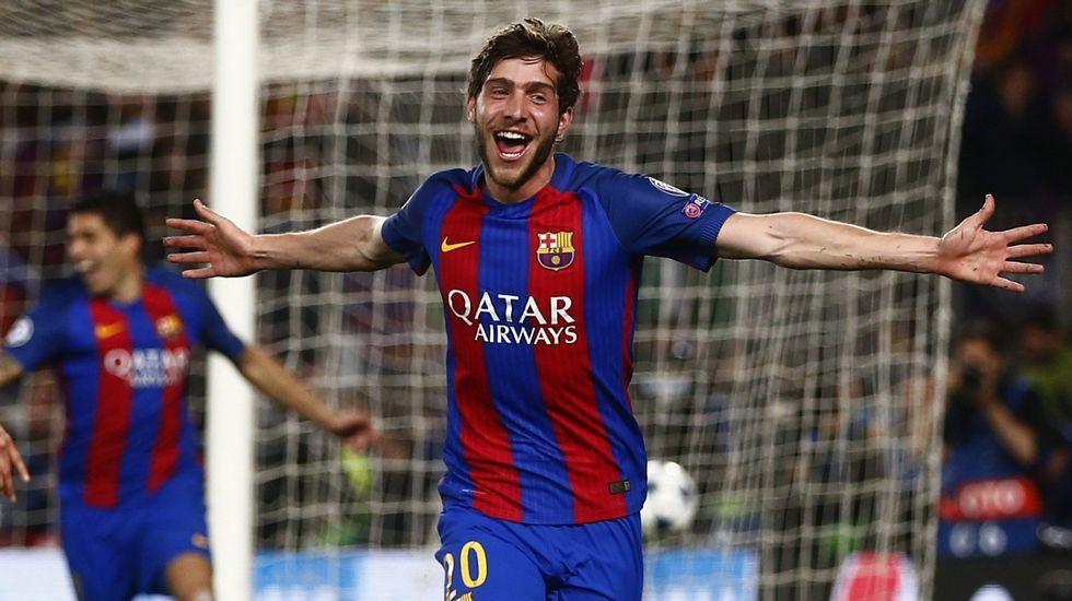La gesta del Barça ante el PSG, en fotos.Sergi Roberto celebra su histórico gol