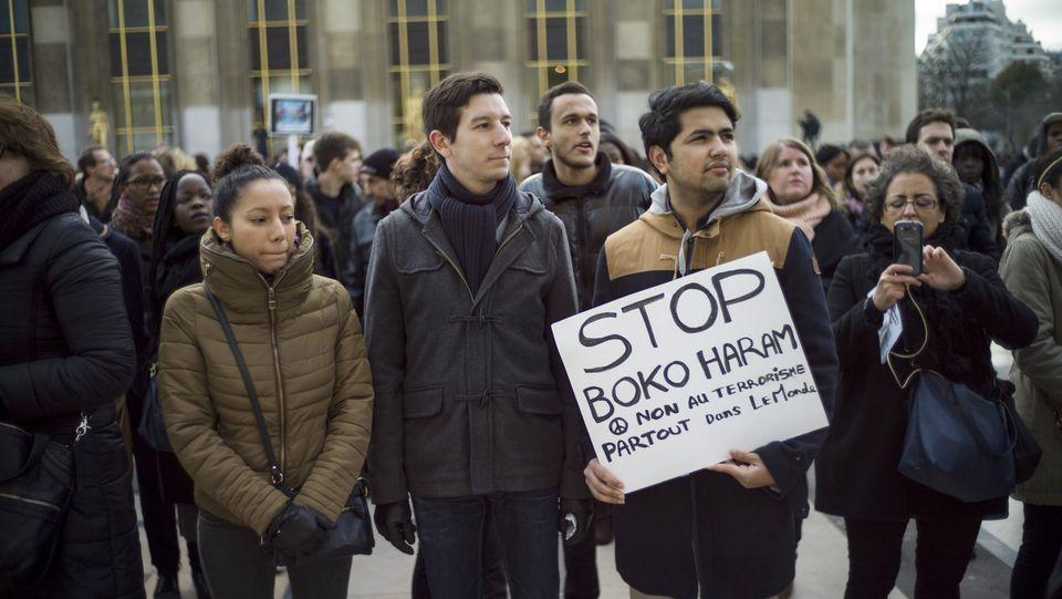 Protesta contra Boko Haram en París