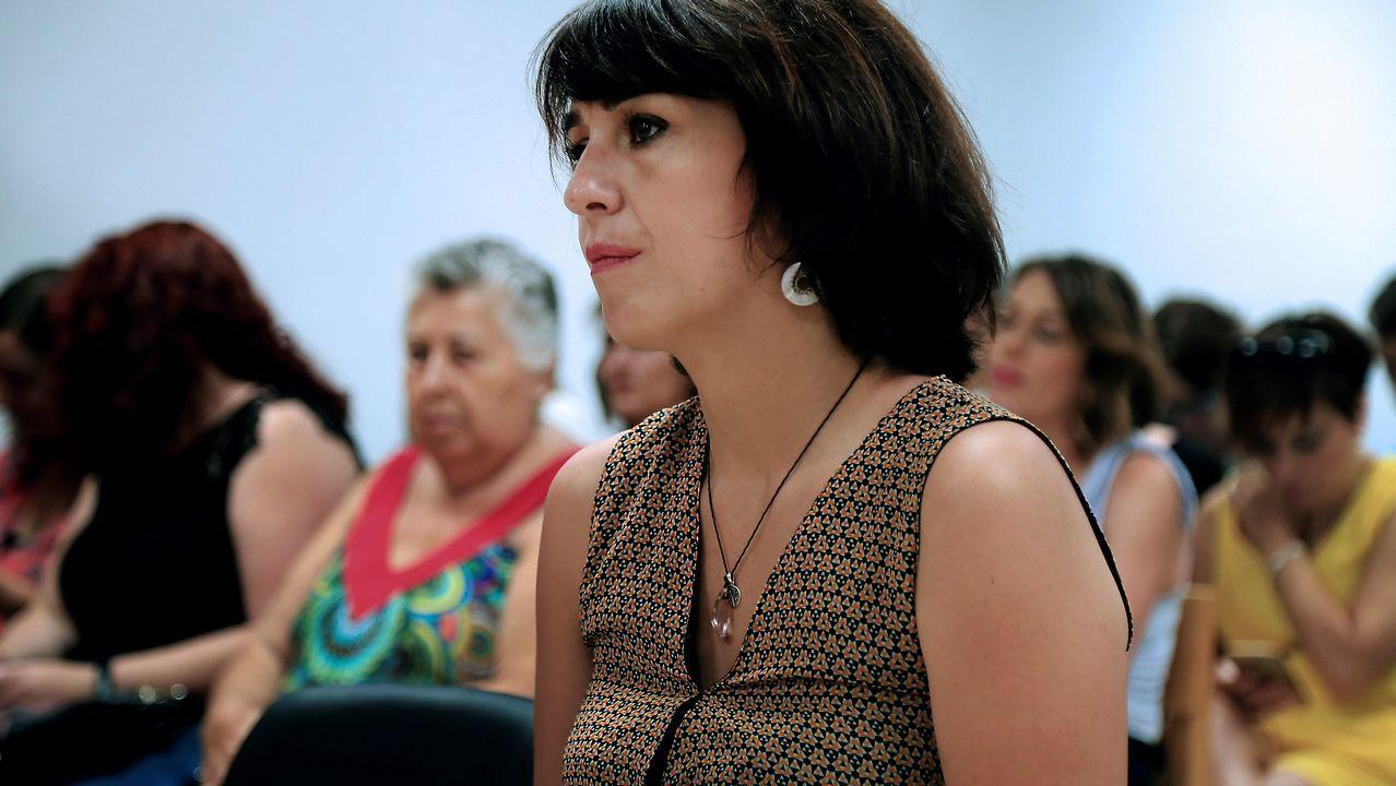 Juana Rivas, esta mañana en el Juzgado de Granada