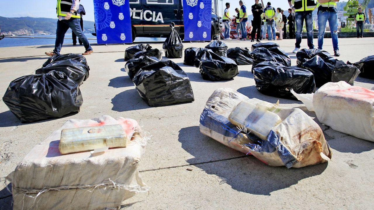 .Descarga de un alijo de cocaína en el puerto de Vigo