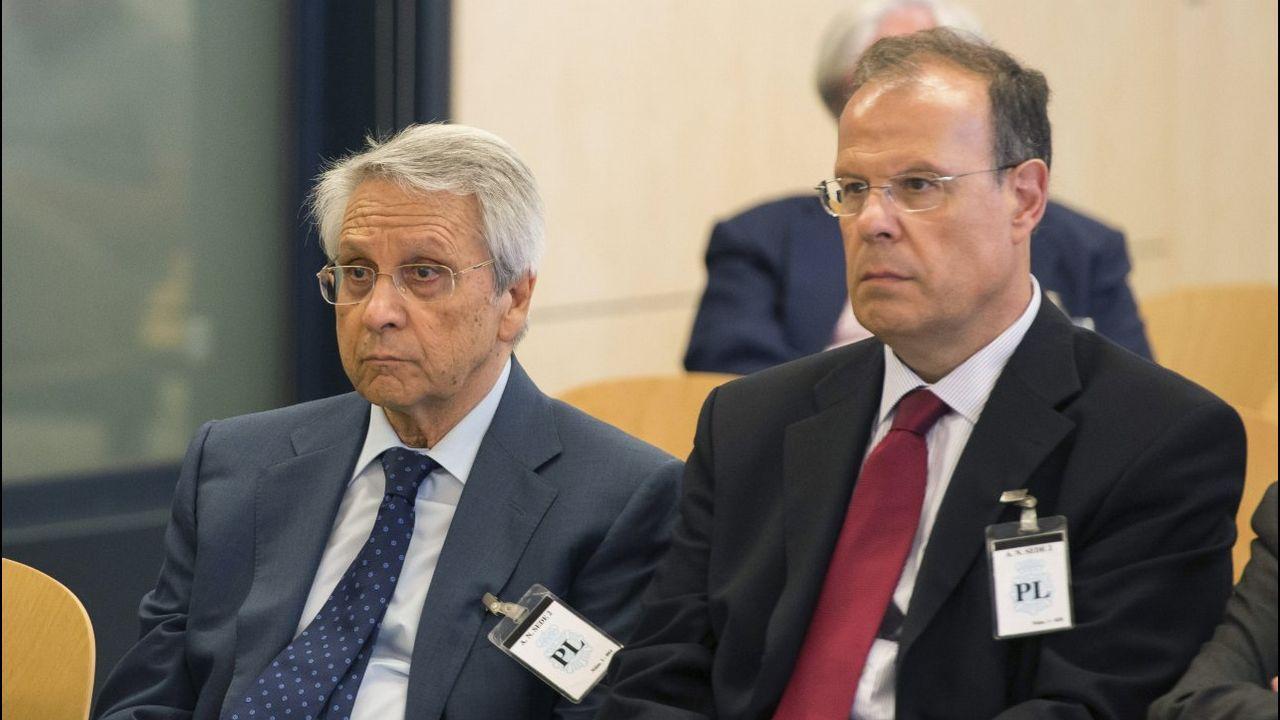 .Julio Fernández Gayoso y José Luis Pego, en la Audiencia Nacional