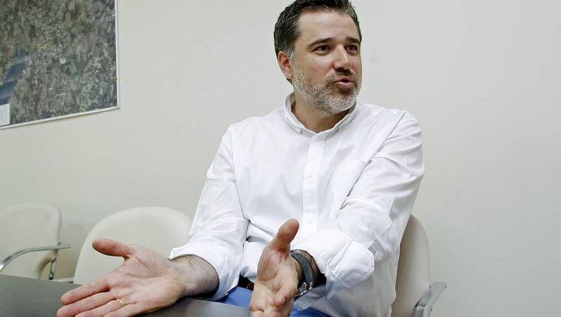 Francisco Díaz instantes antes de la asamblea anual de socios de la entidad.