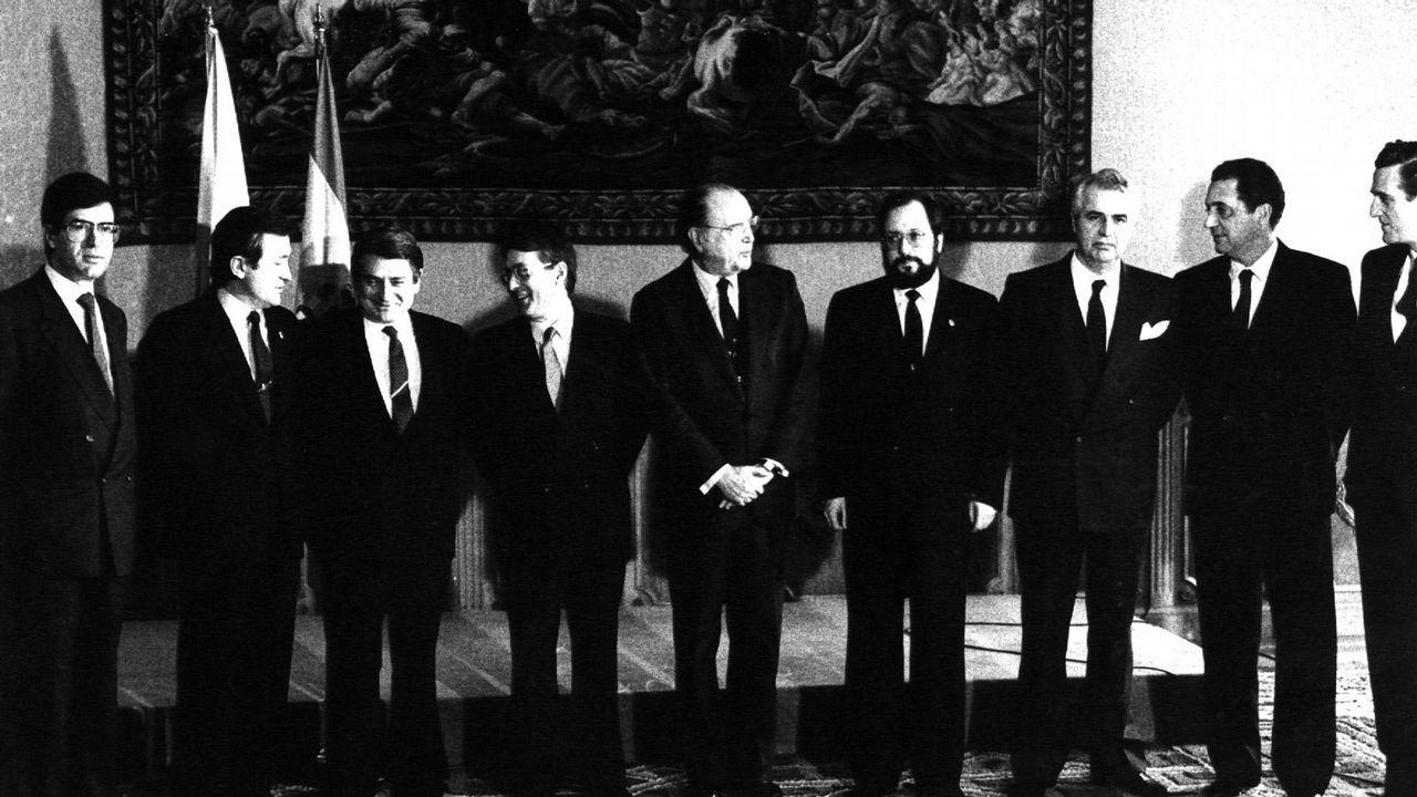 .Miembros del nuevo Gobierno de la Xunta de Galicia presidido por Fernández Albor