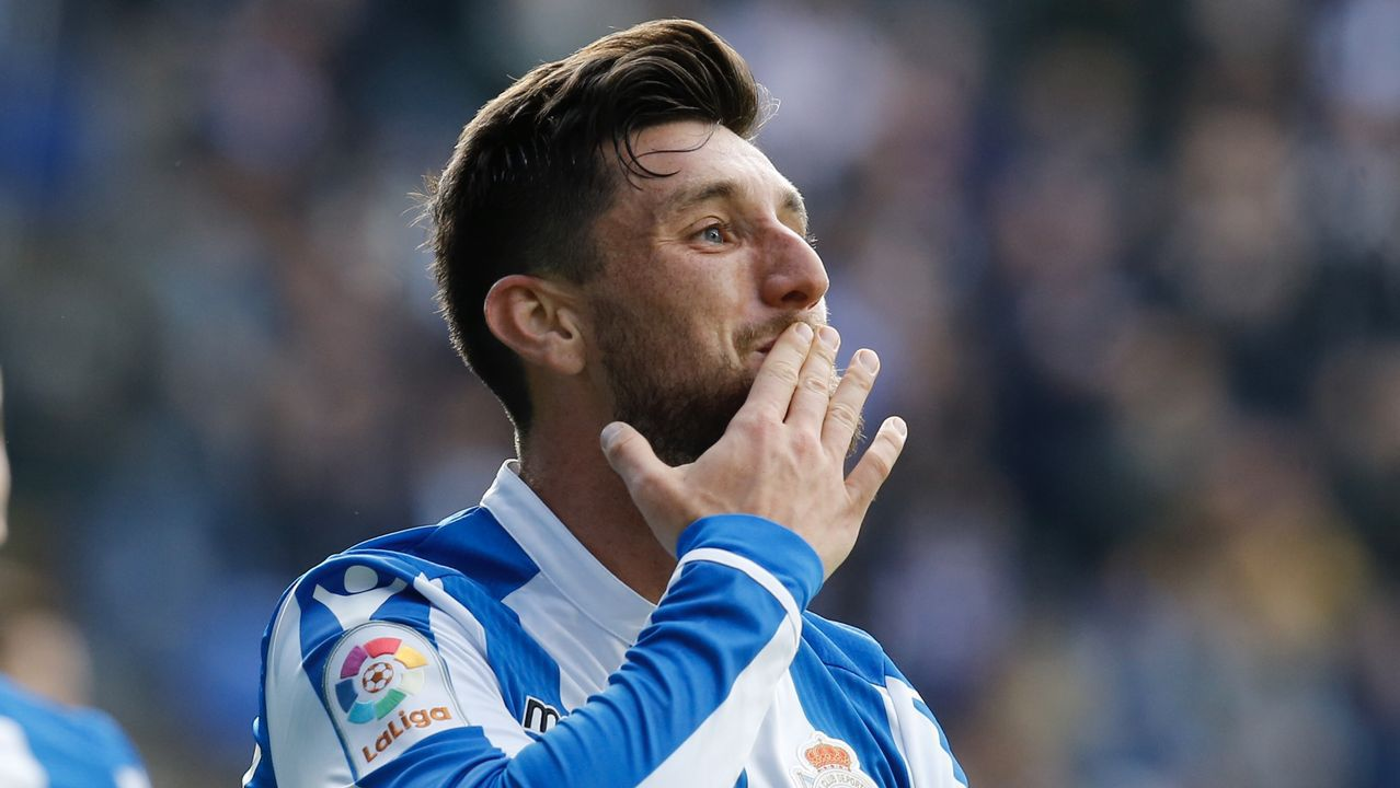 Las imágenes del Deportivo - Zaragoza.Quique González ha marcado un gol en las ocho últimas jornadas