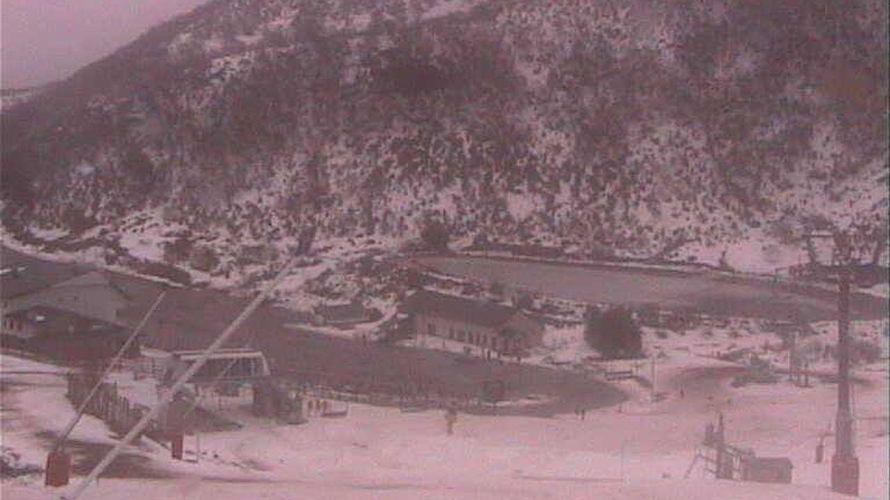 Imagen tomada por la webcam de la estación de esquí de Pajares