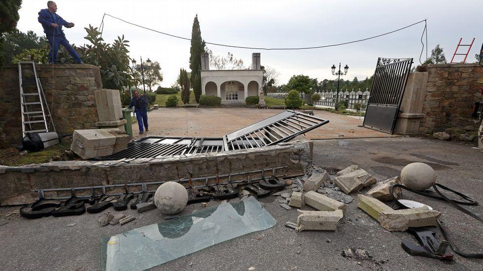 Accidente en el cementerio de Vista Alegre.