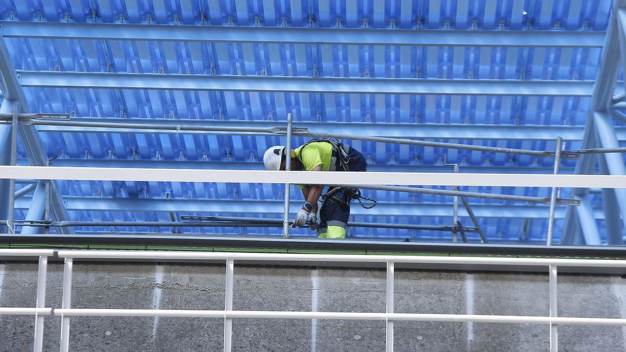 .Las obras continuan en varias partes del estadio de Riazor
