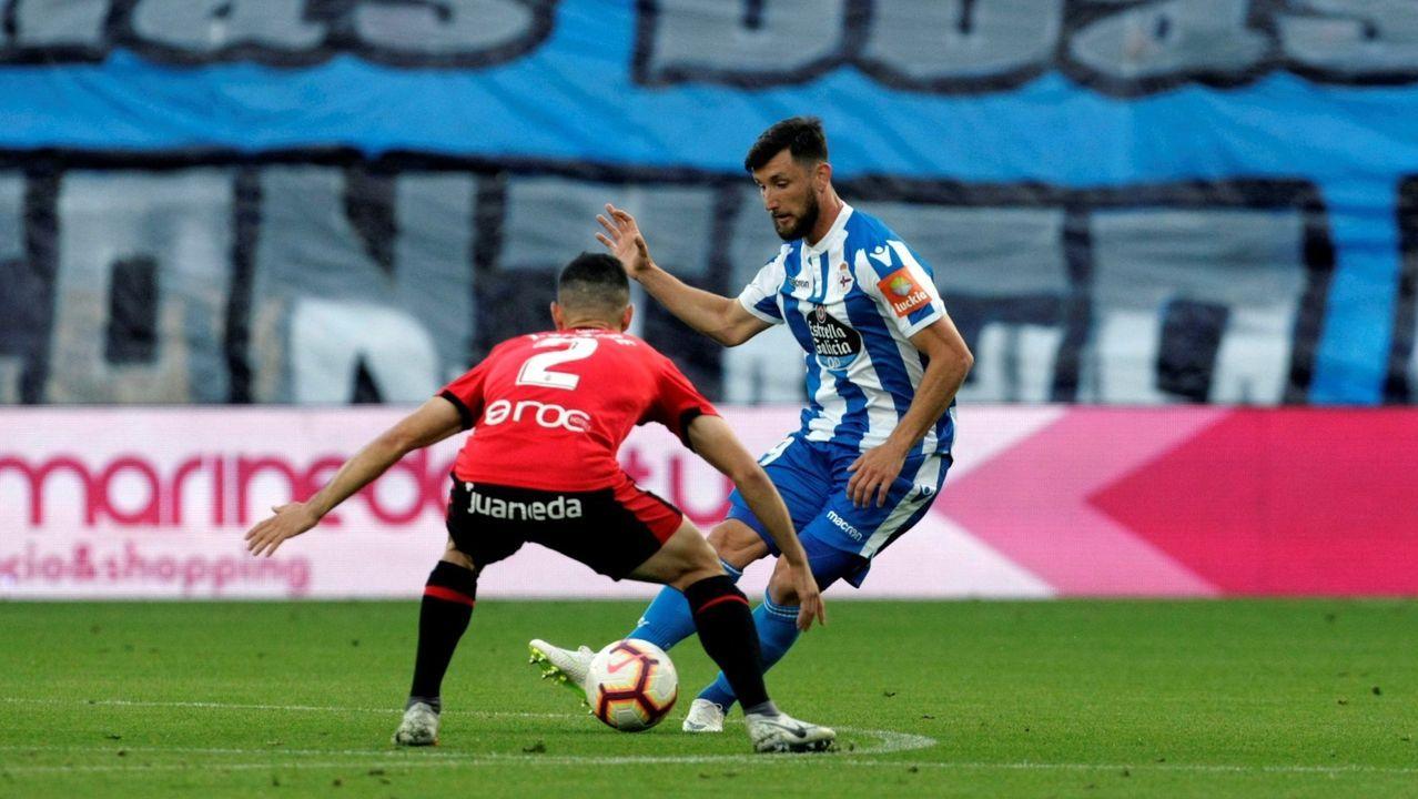 Carlos Hernández y Christian Fernández se lamentan ante el Lugo