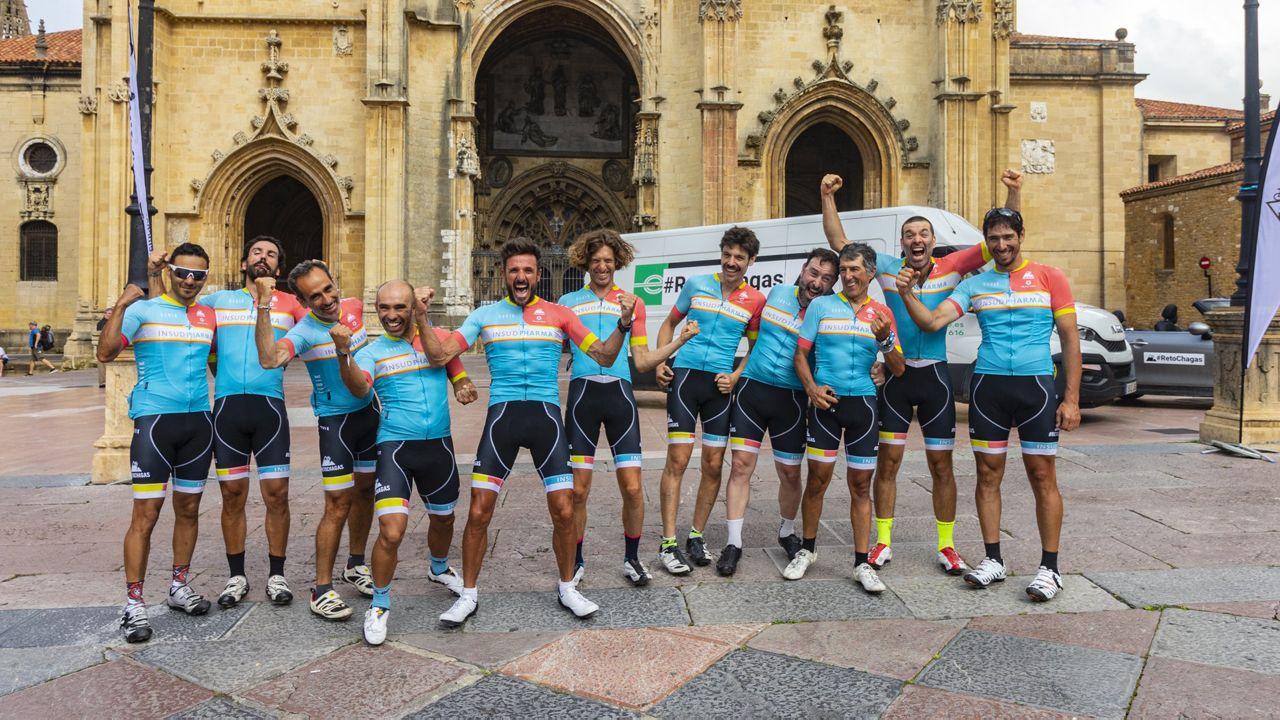 .#RetoChagas 2018. Chema Martínez y el equipo completaron los 790 kilómetros desde Madrid hasta Oviedo