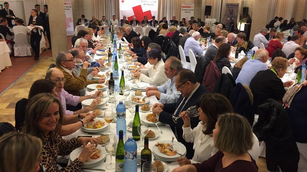 Las imágenes de una noche solidaria en Sarria