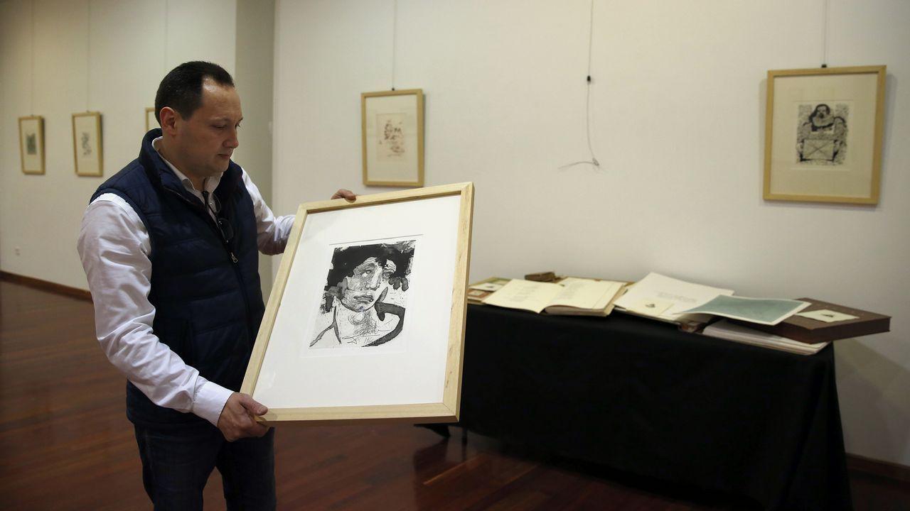 Autorretratos de Miró, Blanchard, Braque, Picasso, Dalí y Gris.