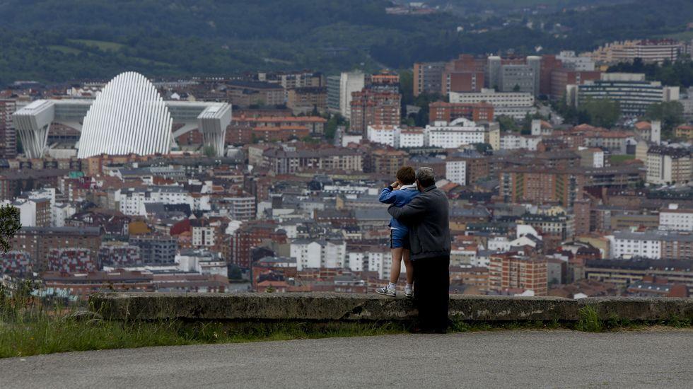 Villa Magdalena.Una vista general de Oviedo