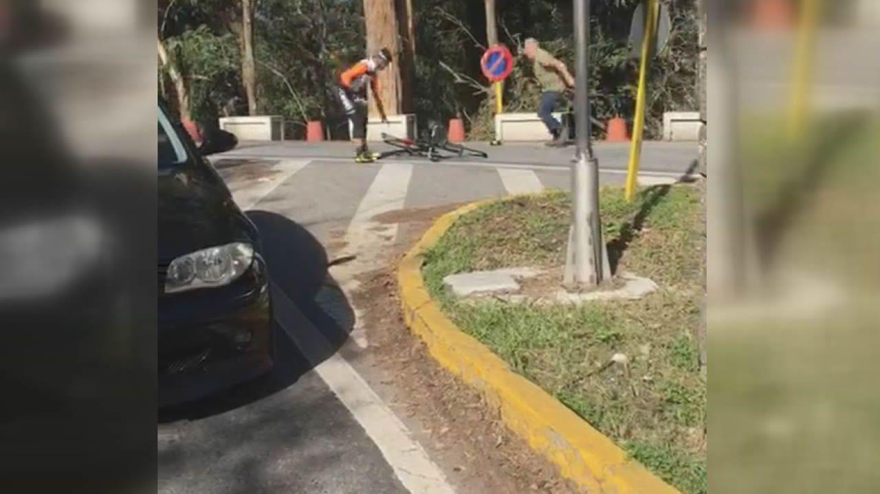 Ingresado un ciclista tras recibir un martillazo de un camionero