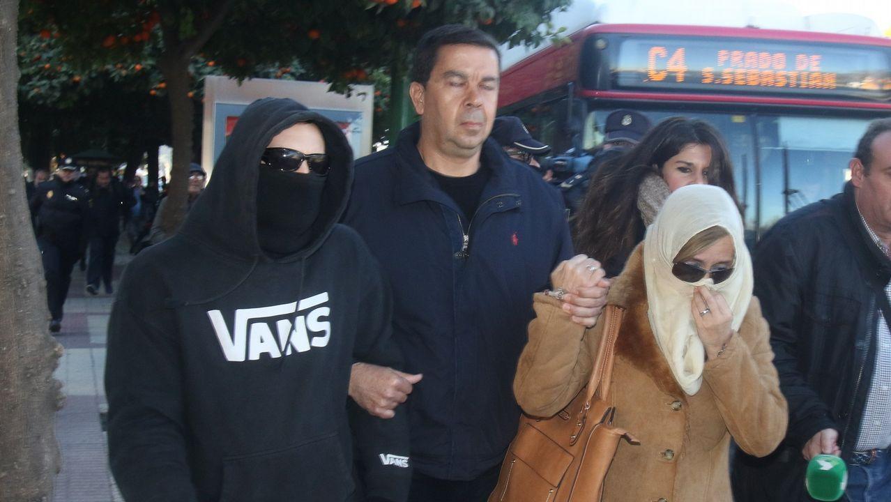 El Cuco, con su padre, ya fallecido, y su madre, que también ha sido procesada