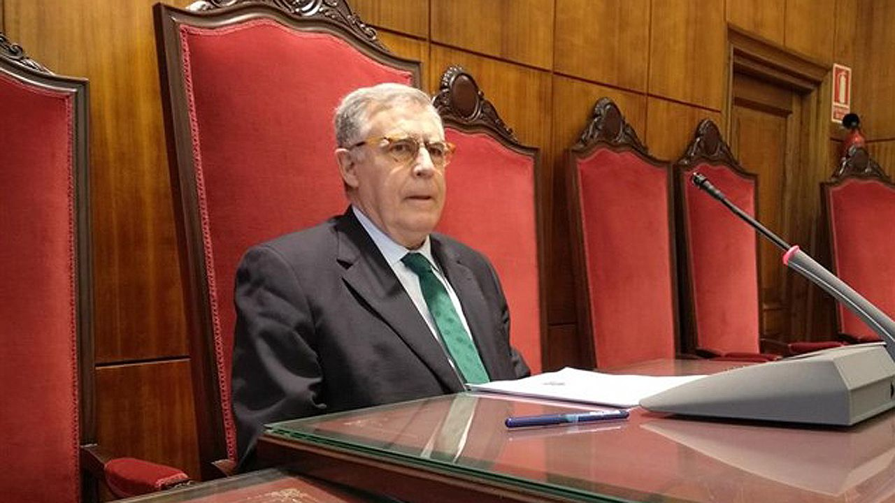 Ignacio Vidau, presidente del Tribunal Superior de Justicia de Asturias