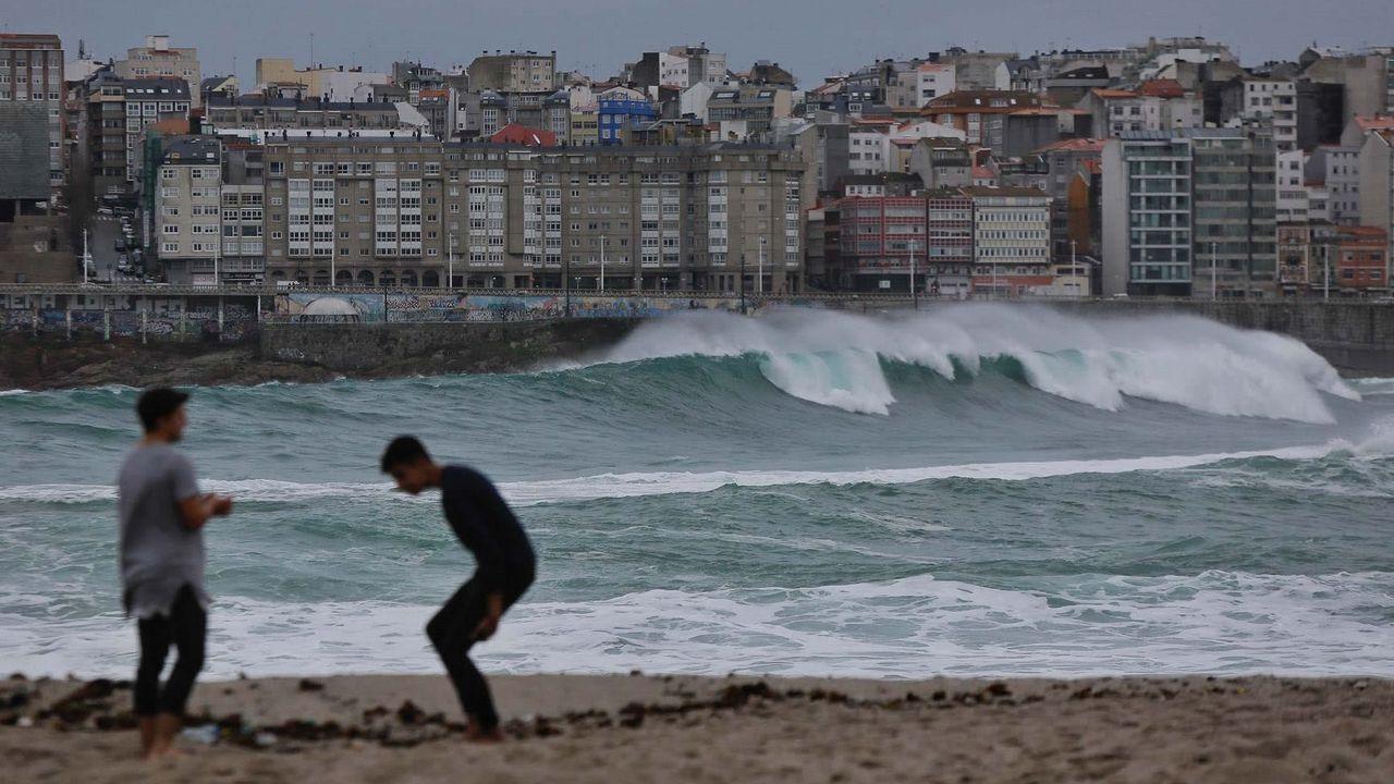 El mar, en la zona de Riazor-Orzán de A Coruña