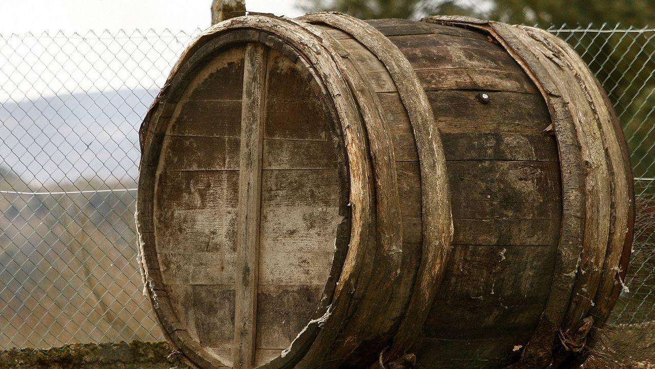 Esta antigua cuba, hoy depositada en el Ecomuseo de Arxeriz, presenta la particularidad de que sus arcos o duelas están hechos de madera y no de metal. Procede de Fixós, en la parroquia chantadina de San Pedro de Líncora
