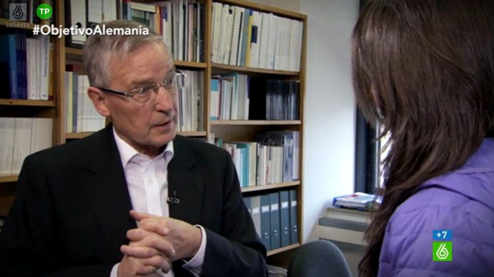 Juergen Donges: «Me preocupa que pueda llegar a gobernar Podemos. Incluso más que Syriza».