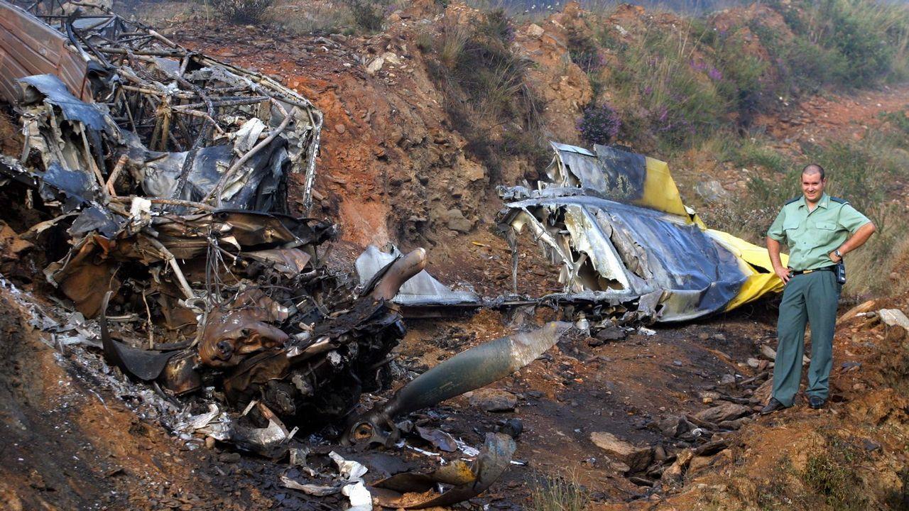 Accidentes aéreos en Galicia.Marzo del 2019: en esta imagen, tomada hace unos diez días, el tablero derecho estaba a punto de llegar al estribo. Se completará este mes.