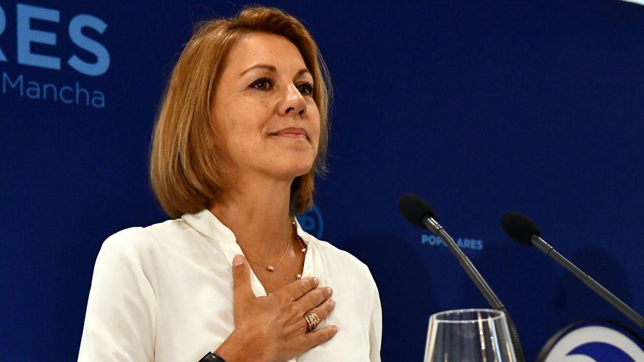 El marido de Cospedal encargó al excomisario Villarejo investigar a Javier Arenas.Maria Dolores de Cospedal