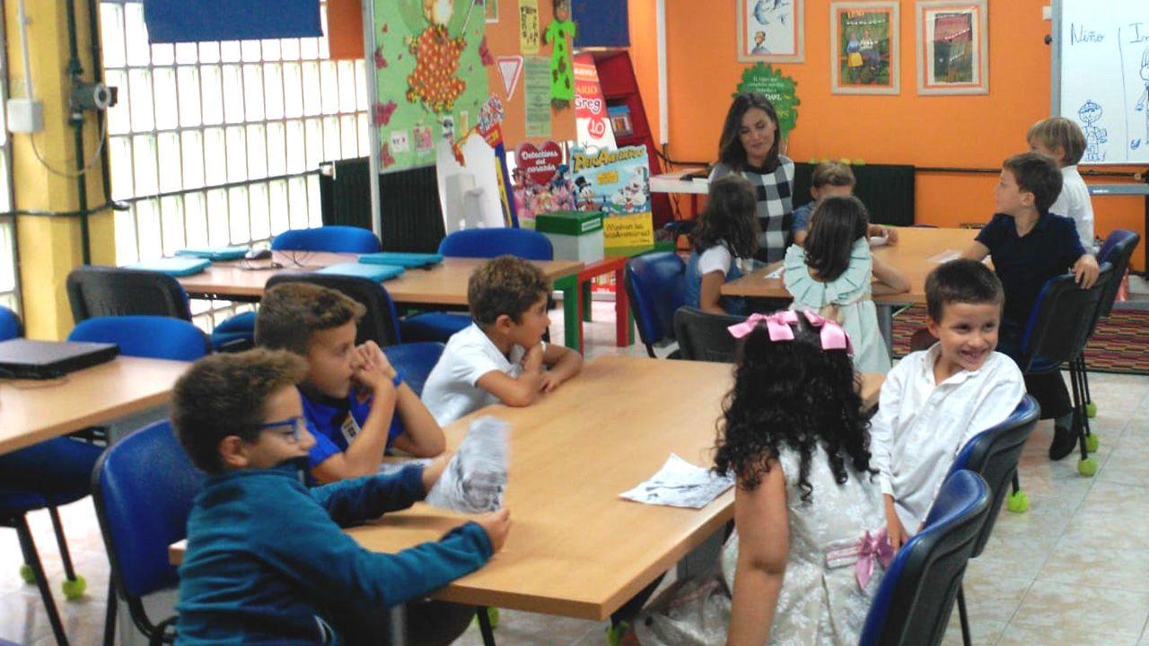 La Reina Letizia inaugura el curso escolar en el colegio público Baudilio Arce, en Oviedo