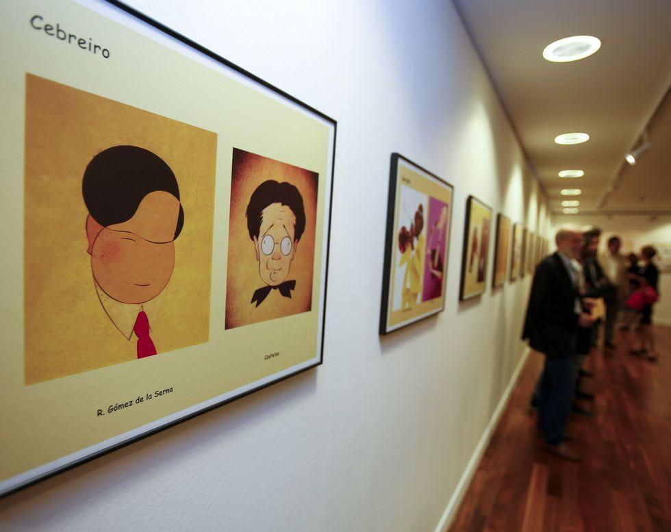 La galería Sargadelos fue otro de los lugares a los que acudieron los caricaturistas.