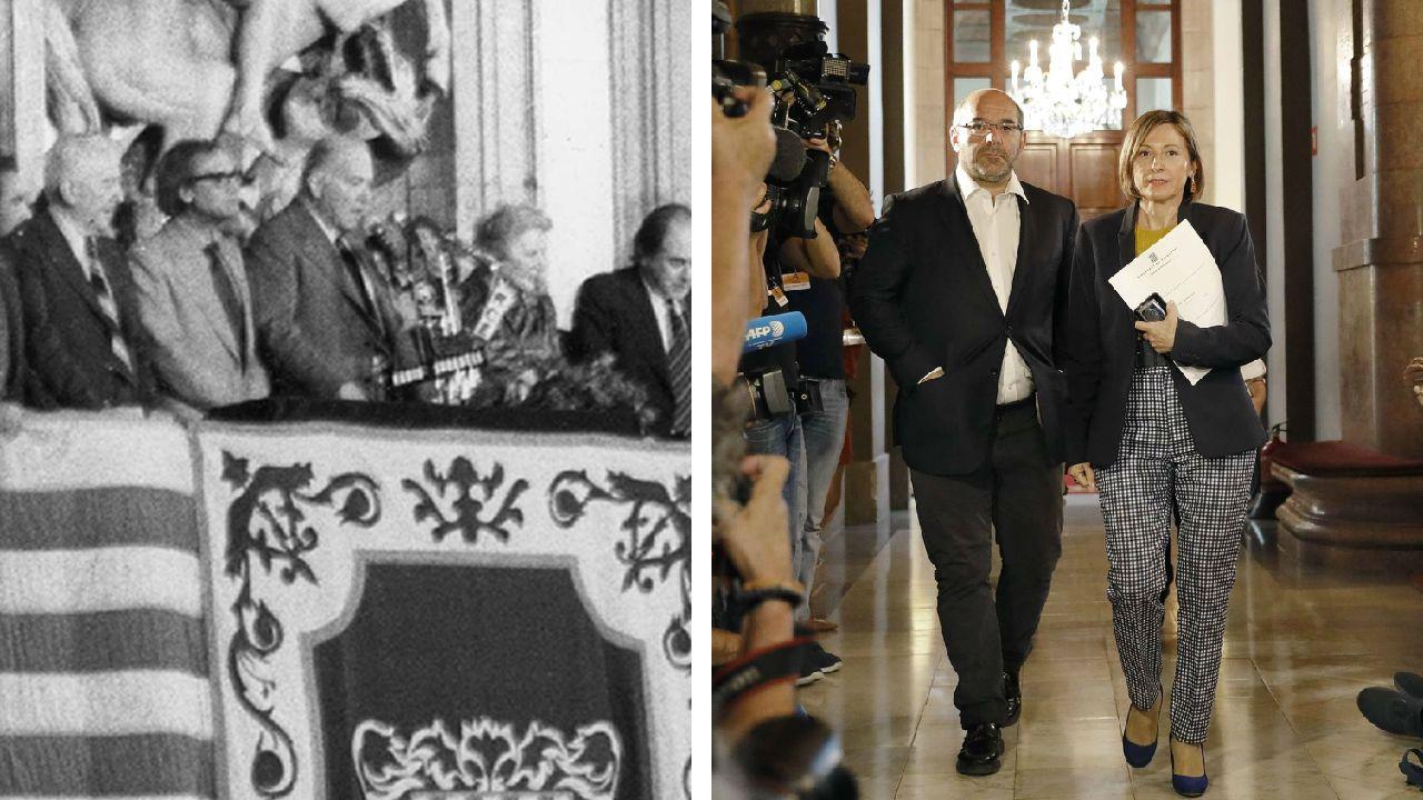 Los discursos del rey.Los actores que dan vida a Fernández-Miranda y a Suárez, en un momento de «De la ley a la ley»