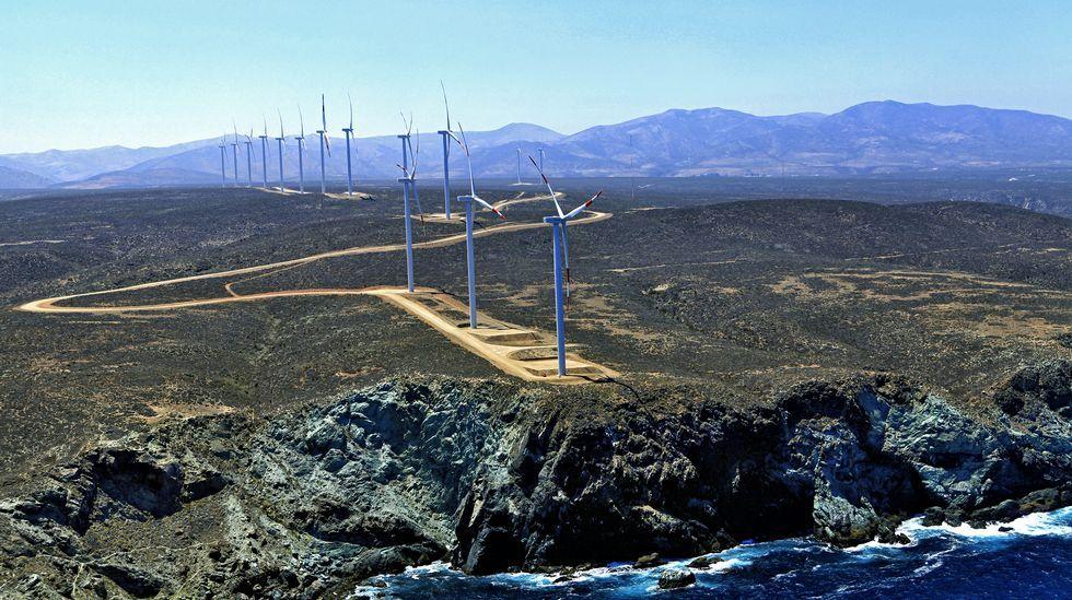.Parque eólico de Acciona en Punta Palmeras, en Chile, cuya producción evita emitir 119.000 toneladas de CO2 al año en centrales de carbón.