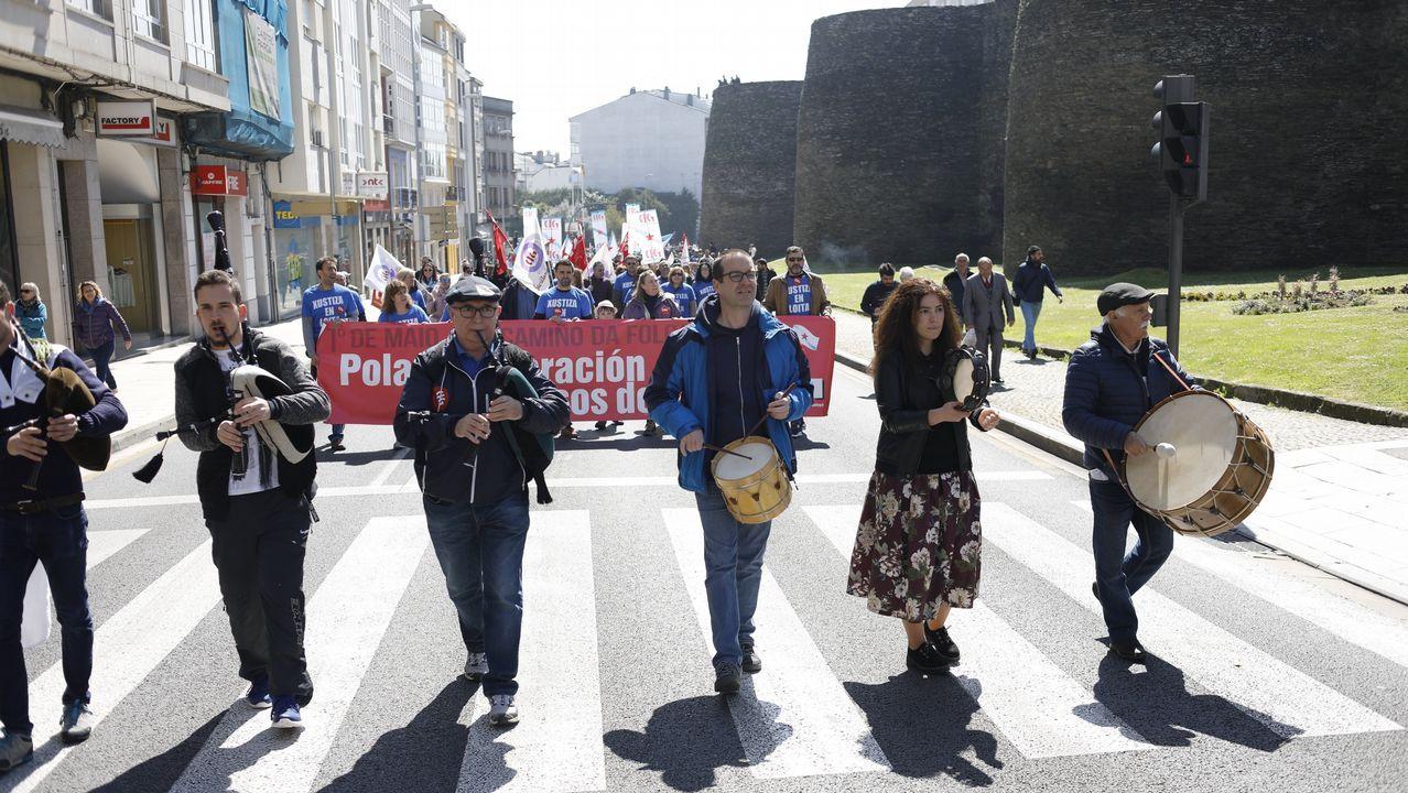 Dia del Trabajo. Manifestación por el 1 de Mayo en Lugo