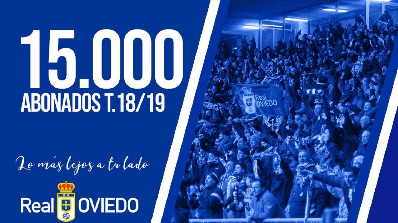 El Real Oviedo alcanza los 15.000 abonados