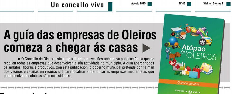 «Vivir en Oleiros» anunció en agosto que se había iniciado el reparto de la guía entre los vecinos.