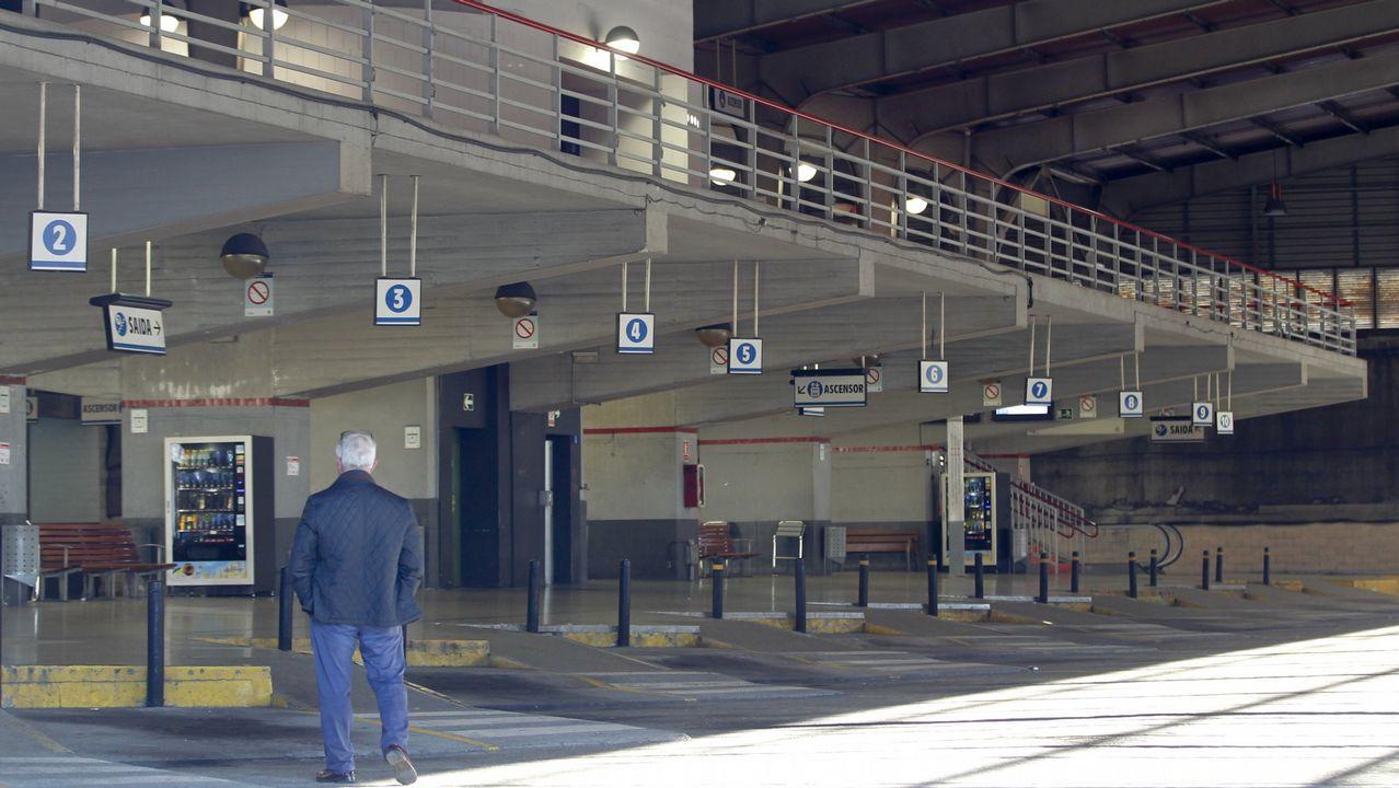 .El andén de la estación de autobuses de Santiago, en una foto de archivo