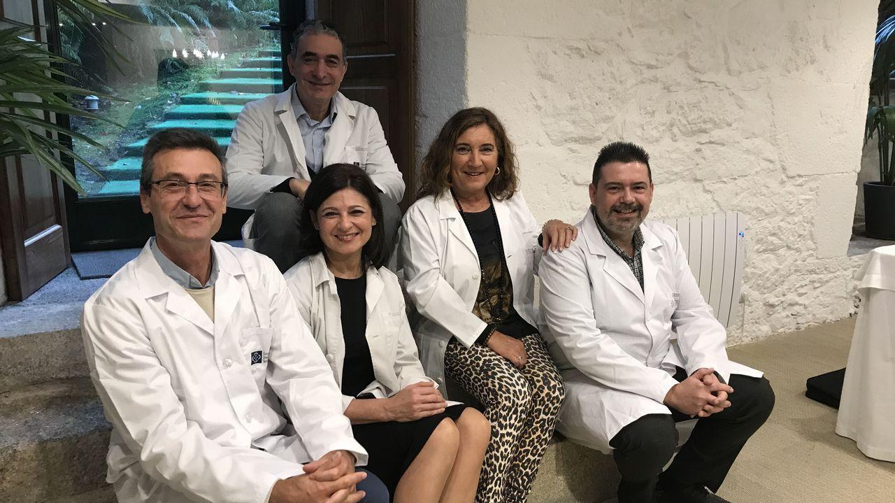 Propiedades de los alimentos gallegos estudiados.Parte del equipo del Clínico de Santiago y del centro de salud de A Estrada que coordinó el estudio