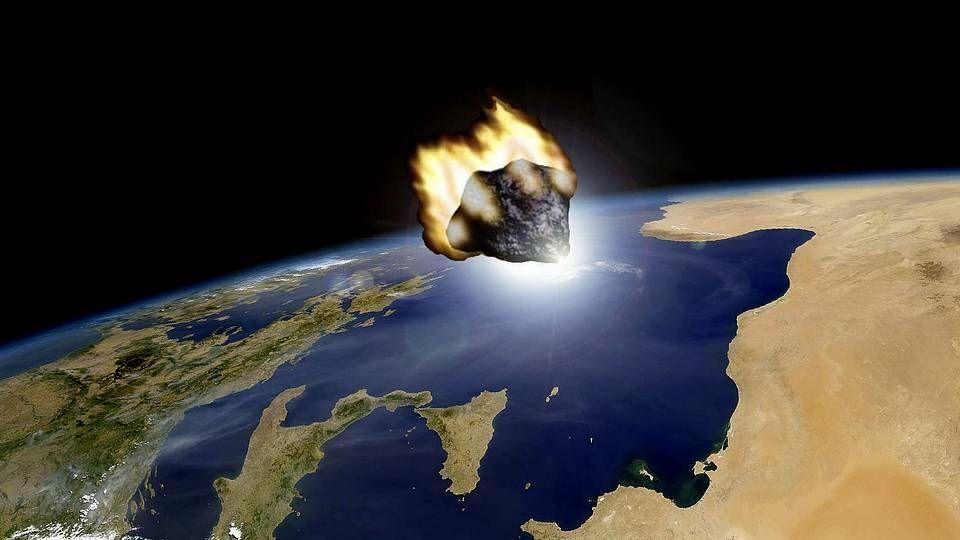 ¿Se puede sobrevivir en Marte?.Recreación del paso del asteroide facilitada por el Observatorio Astronómico de Mallorca