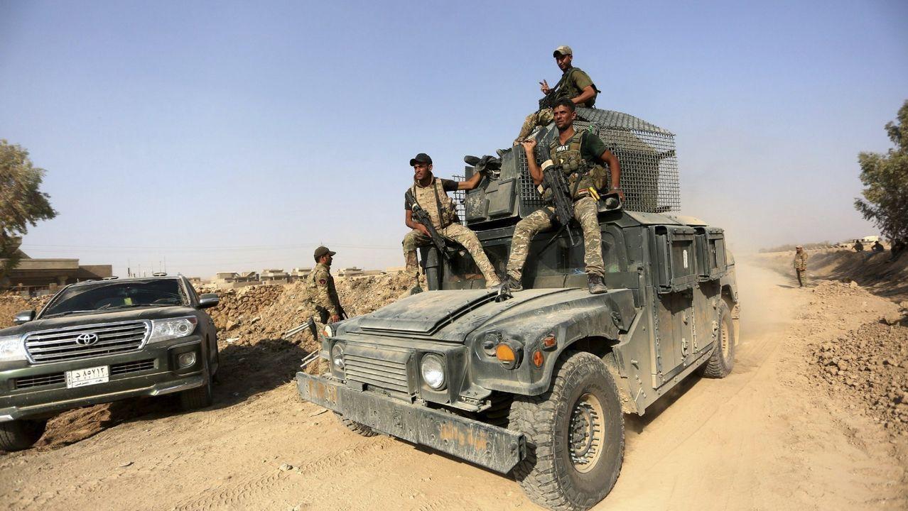 .El ejército iraquí avanza hacia el centro de la ciudad de Tal Afar, Mosul (Irak)