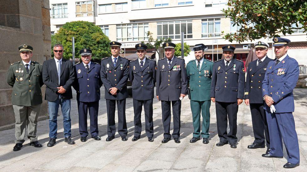 Celebración de la patrona en la  Policia Nacional de Ribeira.
