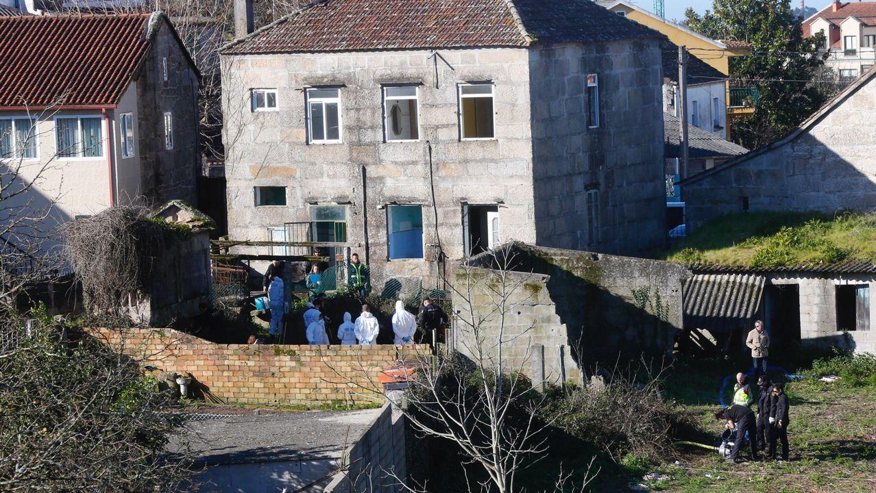 Taller de Vilalonga, en Sanxenxo, donde la Policía inspeccionó el coche de la pareja de David Araújo, también investigado en el caso de Sonia Iglesias.Registro en busca del cuerpo de Sonia Iglesias