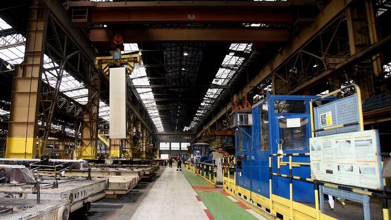 Manifestación de trabajadores de Alcoa.La planta de A Coruña pertenece a Alcoa desde 1998, aunque abrió en los años 60.