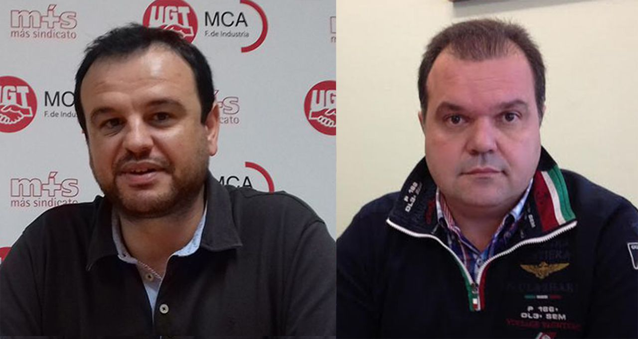 .Jenaro Martínez, secretario general de MCA, y José Luis Alperi, secretario general del SOMA