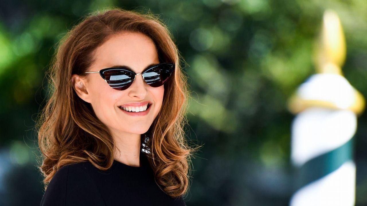 La actriz Natalie Portman, a su llegada al Festival de Venecia