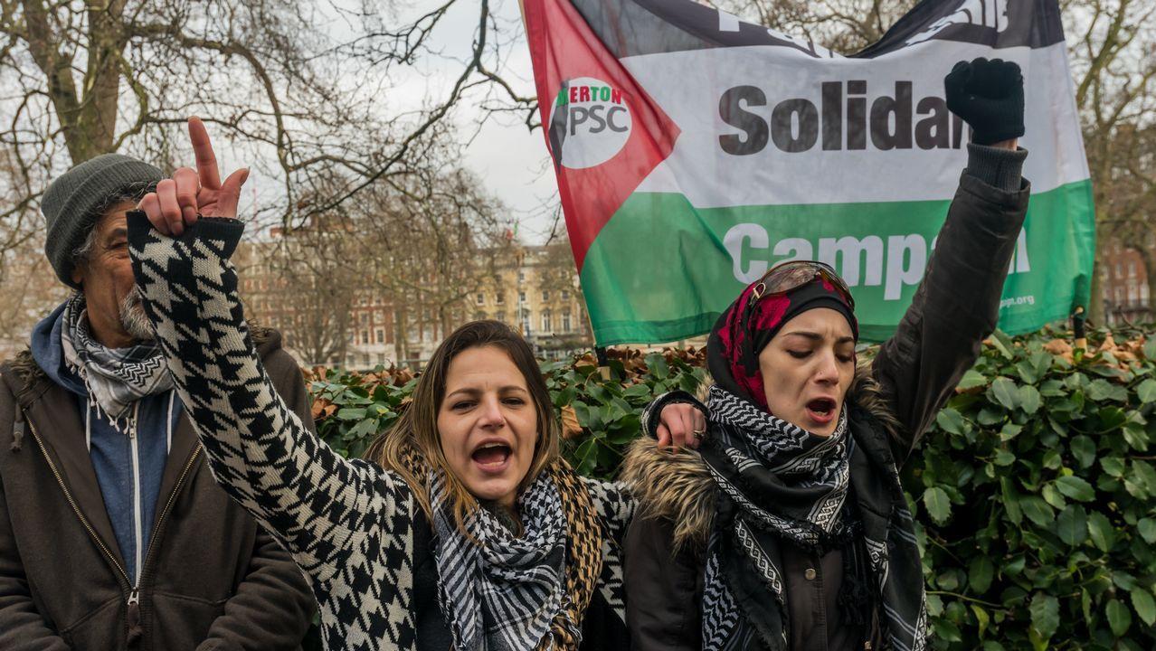 .Protestas por el encarcelamiento de la joven palestina Ahed Tamimi