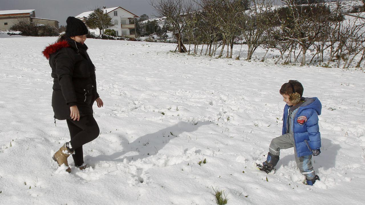 Un manto blanco que dejó una bella estampa en la comarca.